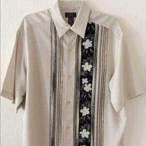 Crazy Horse Hawaiian Shirt Beige Size Large